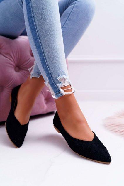 Dámske balerínky farba čierna kód obuvi A978-231 BLK