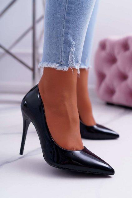 Dámske lodičky farba čierna kód obuvi LE03 BLK