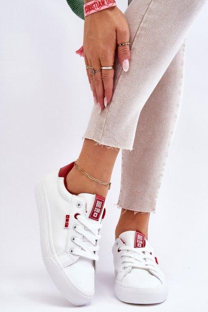 Dámske tenisky farba biela kód obuvi EE274311 WHITE RED