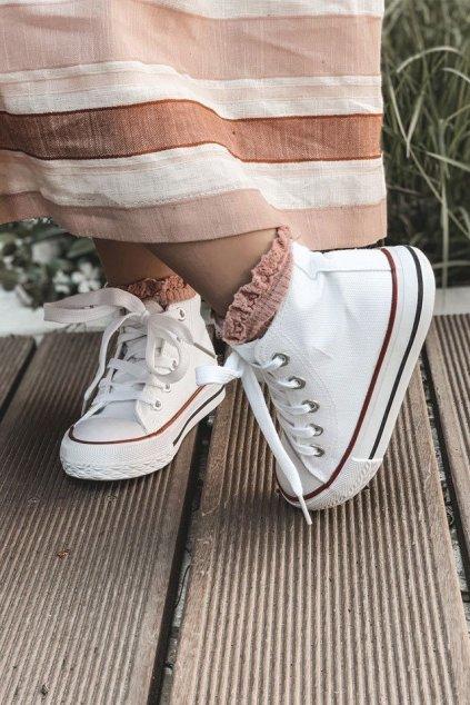 Detské tenisky farba biela kód obuvi 80090-B WHITE