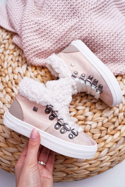 Detské tenisky farba ružová kód obuvi EE374015 PINK