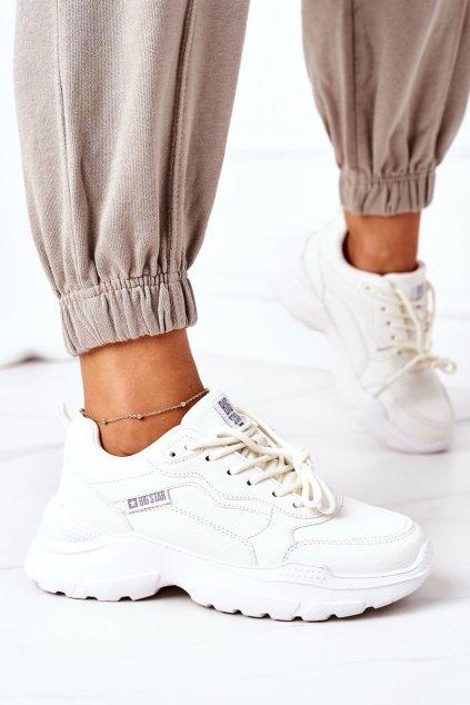 Dámske tenisky farba biela kód obuvi EE274460 WHITE