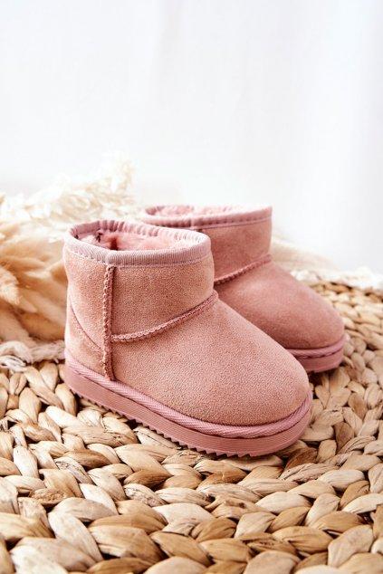Detské snehule farba ružová kód obuvi 20213-D PINK