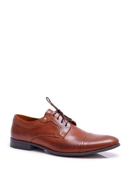 Pánske poltopánky farba hnedá kód obuvi 223 BROWNN