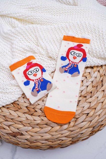 Dámske ponožky farba biela kód DM-500 PENGUIN