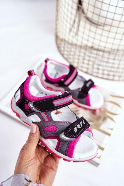 Detské sandále farba čierna kód obuvi T-16176-7/77G BLK/GREY