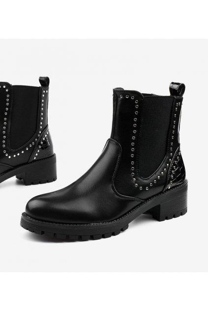 Dámske členkové topánky čierne kód 12618-B19 - GM