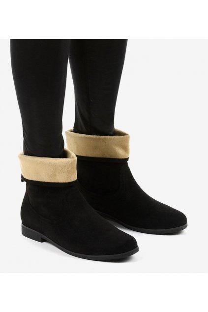 Dámske členkové topánky čierne kód HFN811-5 BL - GM