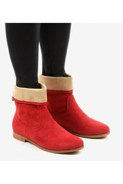 Dámske členkové topánky červené kód HFN811-5 R - GM