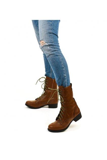 Dámske členkové topánky hnedé kód - GM
