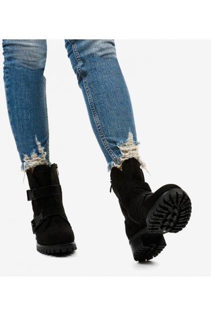 Dámske členkové topánky čierne kód 0-358 - GM