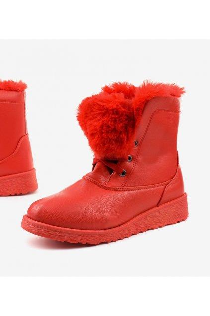 Dámske členkové topánky trapery červené kód - GM