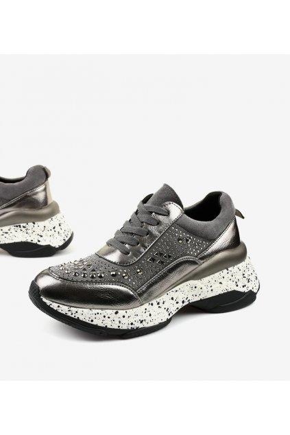 Dámske topánky tenisky sivé kód - GM