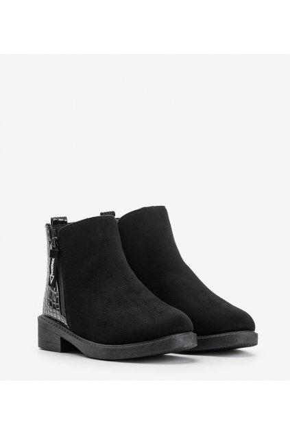 Dámske členkové topánky čierne kód RL6107 - GM