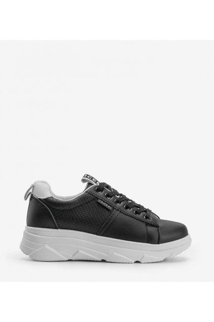 Dámske topánky tenisky čierne kód BO-529 BL A - GM