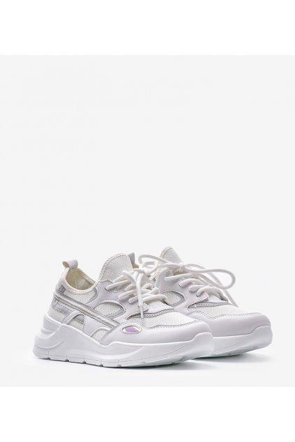 Dámske topánky tenisky sivé kód BO-560 H WHITE - GM