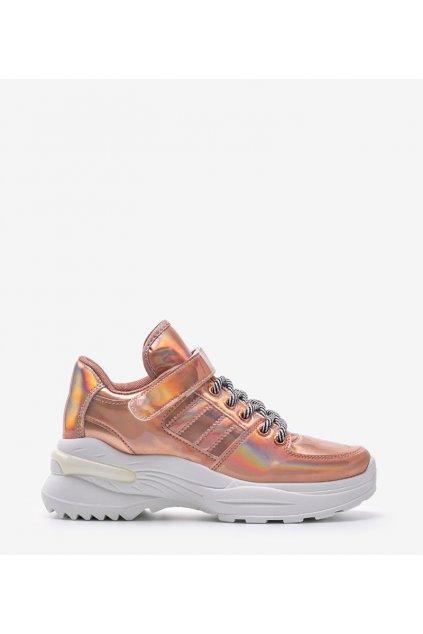 Dámske topánky tenisky ružové kód LL1760 CHAMPAGNE - GM