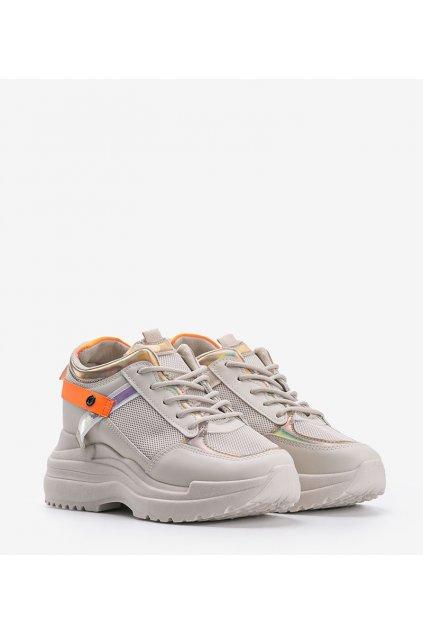 Dámske topánky tenisky hnedé kód 3169 - GM