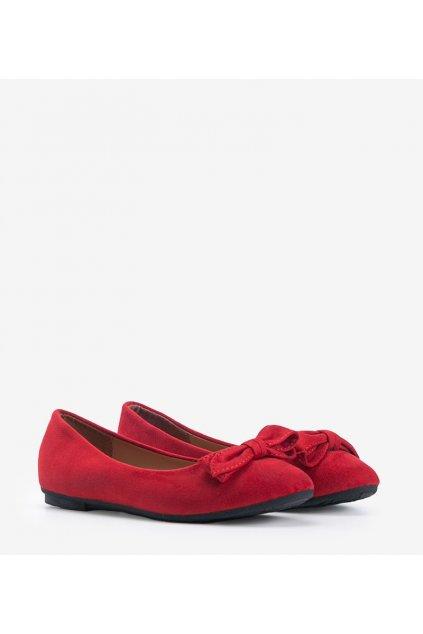 Dámske baleríny červené kód 8F65 - GM