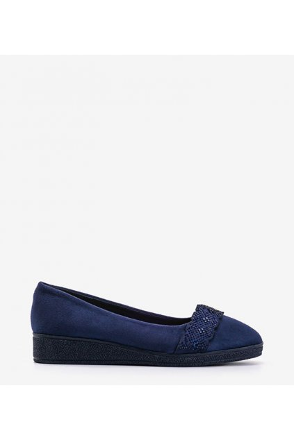 Dámske topánky mokasíny modré kód H9271 - GM