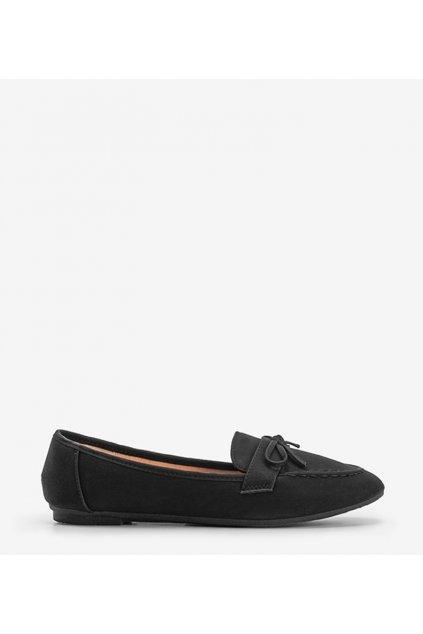 Dámske topánky mokasíny čierne kód 98-30 - GM