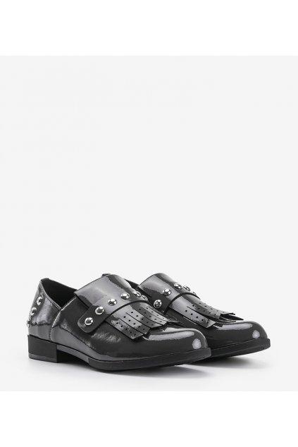 Dámske topánky mokasíny sivé kód C18-6266 - GM