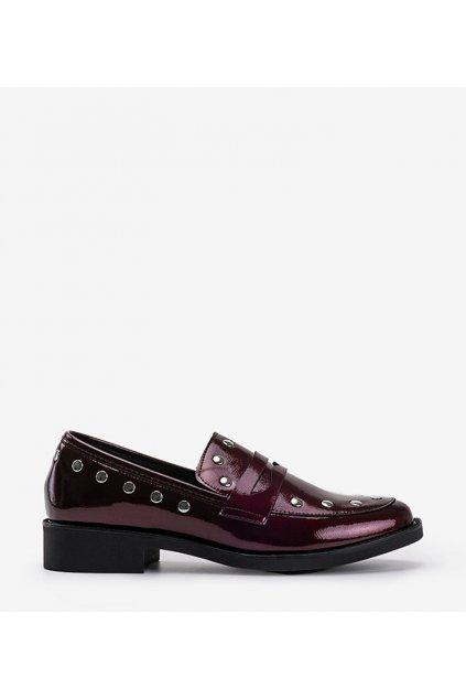 Dámske topánky mokasíny bordové kód C18-6297-2 - GM