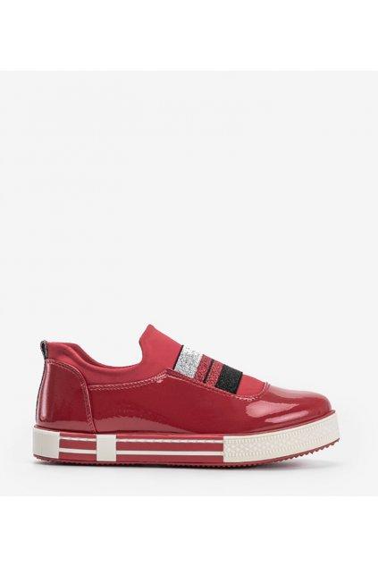 Dámske topánky tenisky červené kód Z-9775 - GM