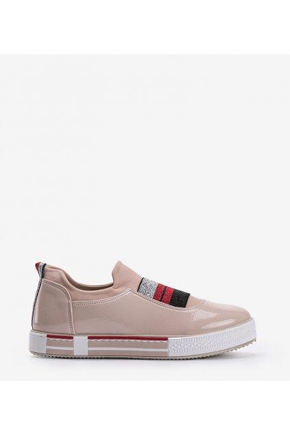 Dámske topánky tenisky hnedé kód Z-9775 - GM