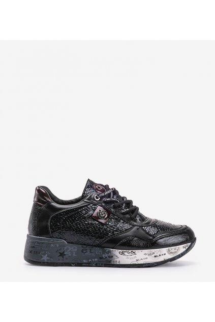 Dámske topánky tenisky čierne kód C19-7666 - GM