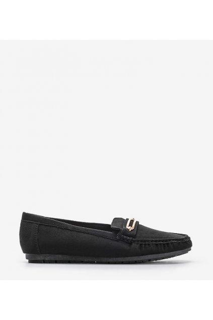 Dámske topánky mokasíny čierne kód 1615 - GM