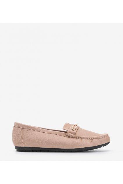 Dámske topánky mokasíny hnedé kód 1615 - GM