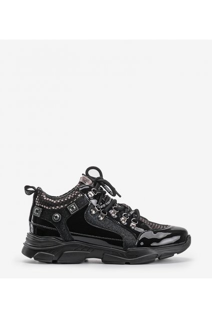 Dámske topánky tenisky čierne kód C19-7731-2 - GM