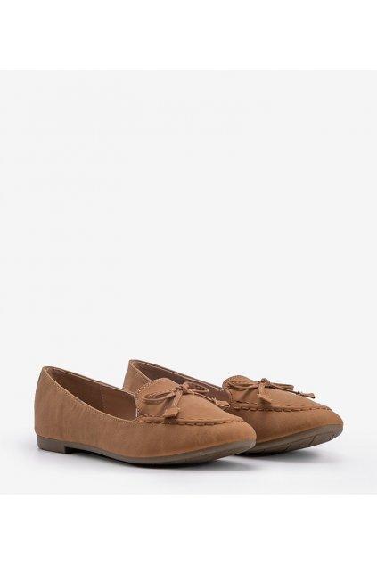 Dámske topánky mokasíny hnedé kód 99-07A - GM