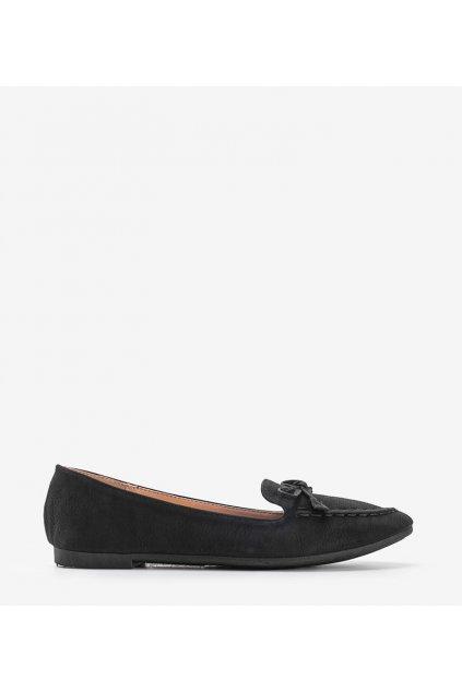 Dámske topánky mokasíny čierne kód 99-07A - GM