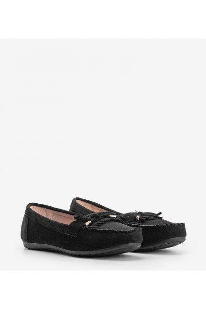 Dámske topánky mokasíny čierne kód BL1407-BL - GM