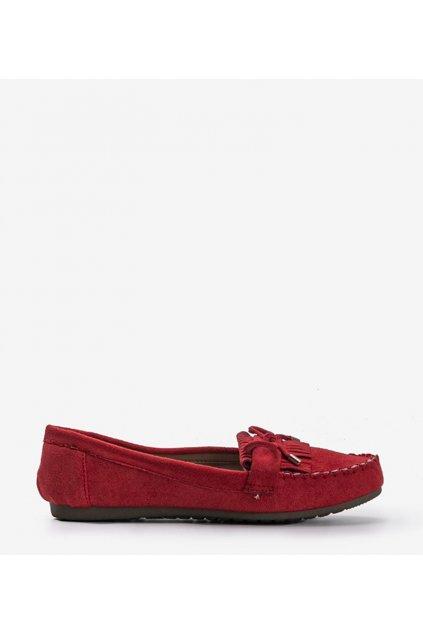 Dámske topánky mokasíny červené kód BL1407-BL - GM