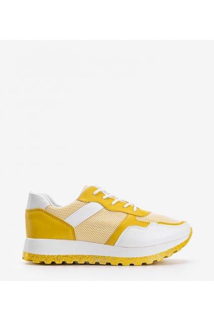 Dámske topánky tenisky žlté kód 2019-414 - GM