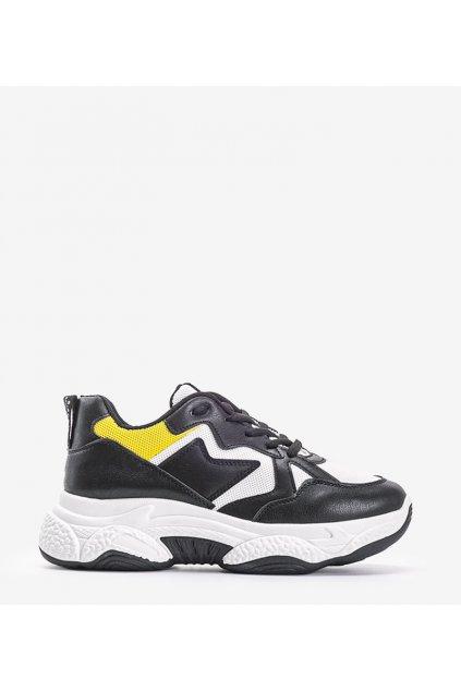 Dámske topánky tenisky čierne kód ROYD8073-1 - GM