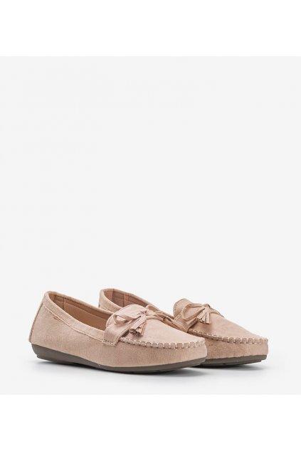 Dámske topánky mokasíny hnedé kód XR-1R2-13 - GM