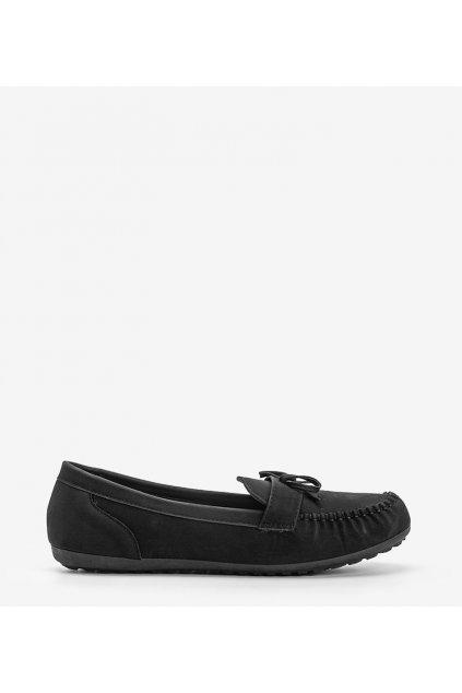 Dámske topánky mokasíny čierne kód OF217 - GM