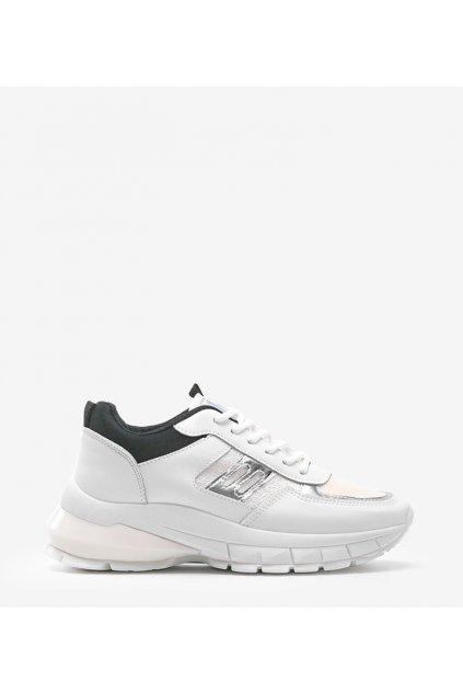 Dámske topánky tenisky biele kód B0-552 - GM