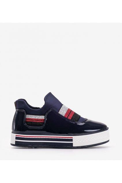 Dámske topánky tenisky modré kód Z-9778 - GM
