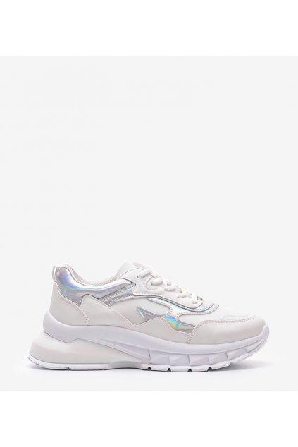 Dámske topánky tenisky biele kód L8031 - GM