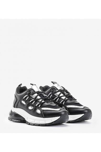 Dámske topánky tenisky čierne kód B0-551 - GM