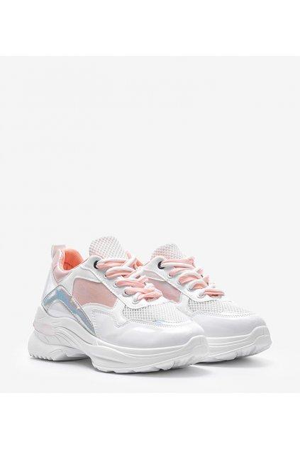 Dámske topánky tenisky biele kód B0-537 - GM