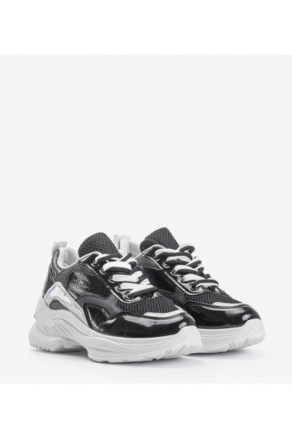 Dámske topánky tenisky čierne kód B0-537 - GM