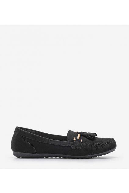 Dámske topánky mokasíny čierne kód B1403-BL - GM