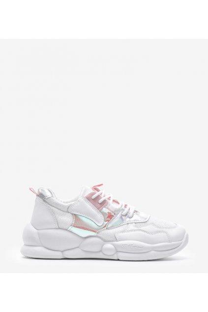 Dámske topánky tenisky biele kód A88-65 - GM