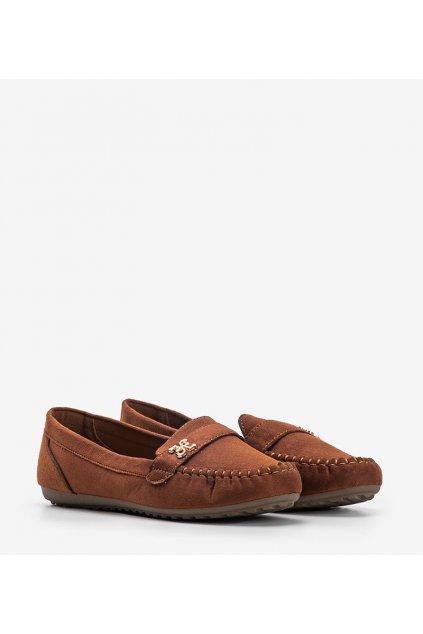 Dámske topánky mokasíny hnedé kód B2020-5 - GM